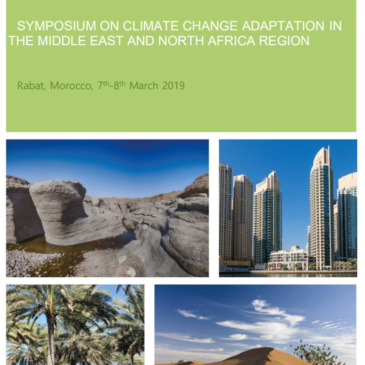 Deadline for Call for Papers: 30 November 2018- Symposium on Climate change Adaptation in the Middle East and North Africa Region- Rabat, Morocco. 7-8 March 2019